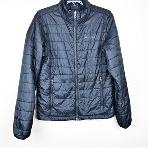 Marmot men's small black puffer down jacket